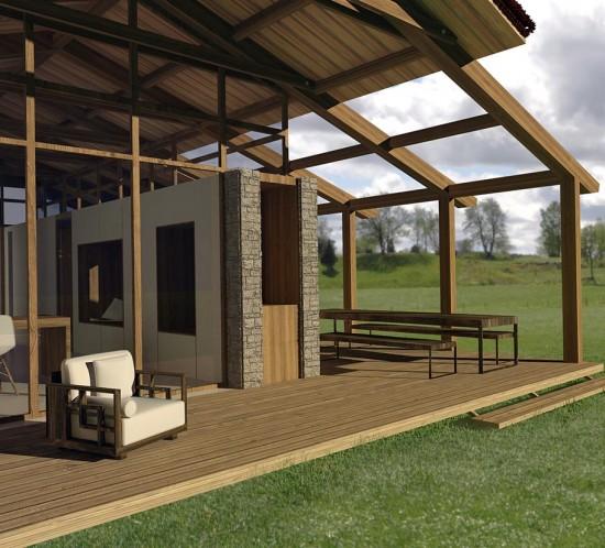Casa ecológica de madera modular, en Castilla y León