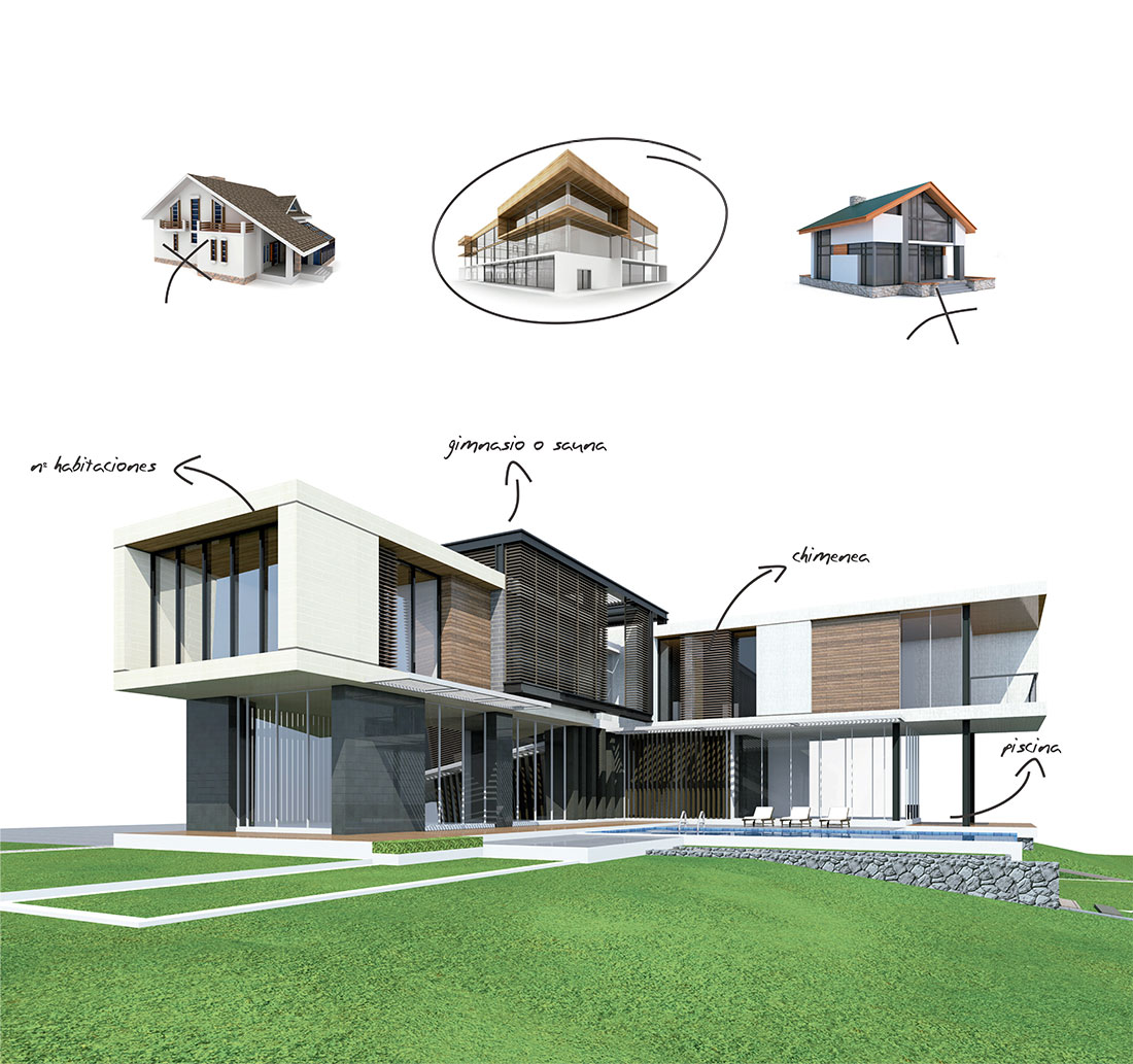 Edificios nuevos en construcción