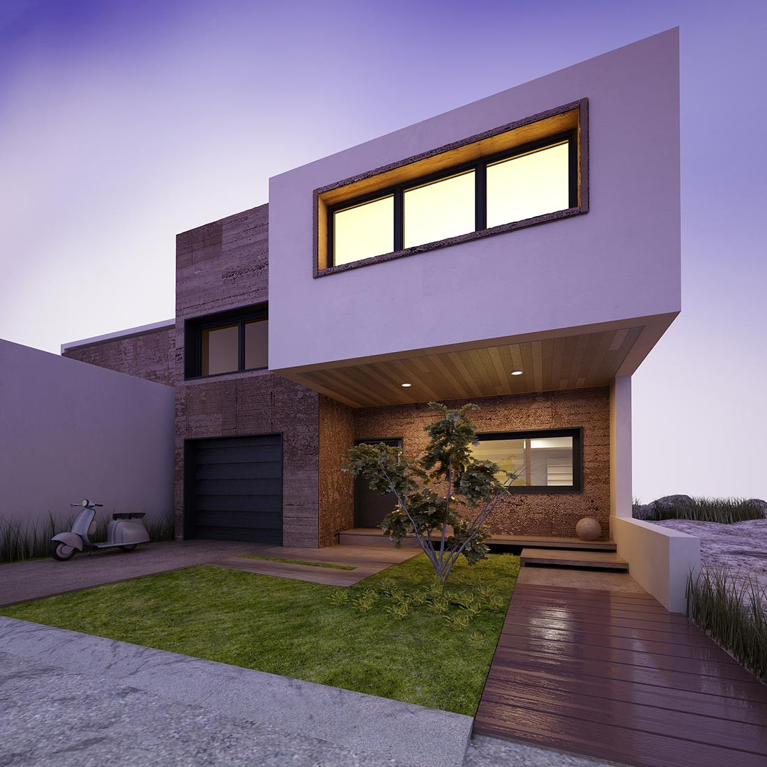 Arquitectura moderna e interiores por Avantia