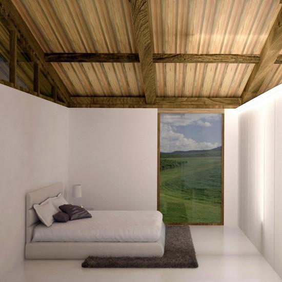 Habitación de la construcción en madera