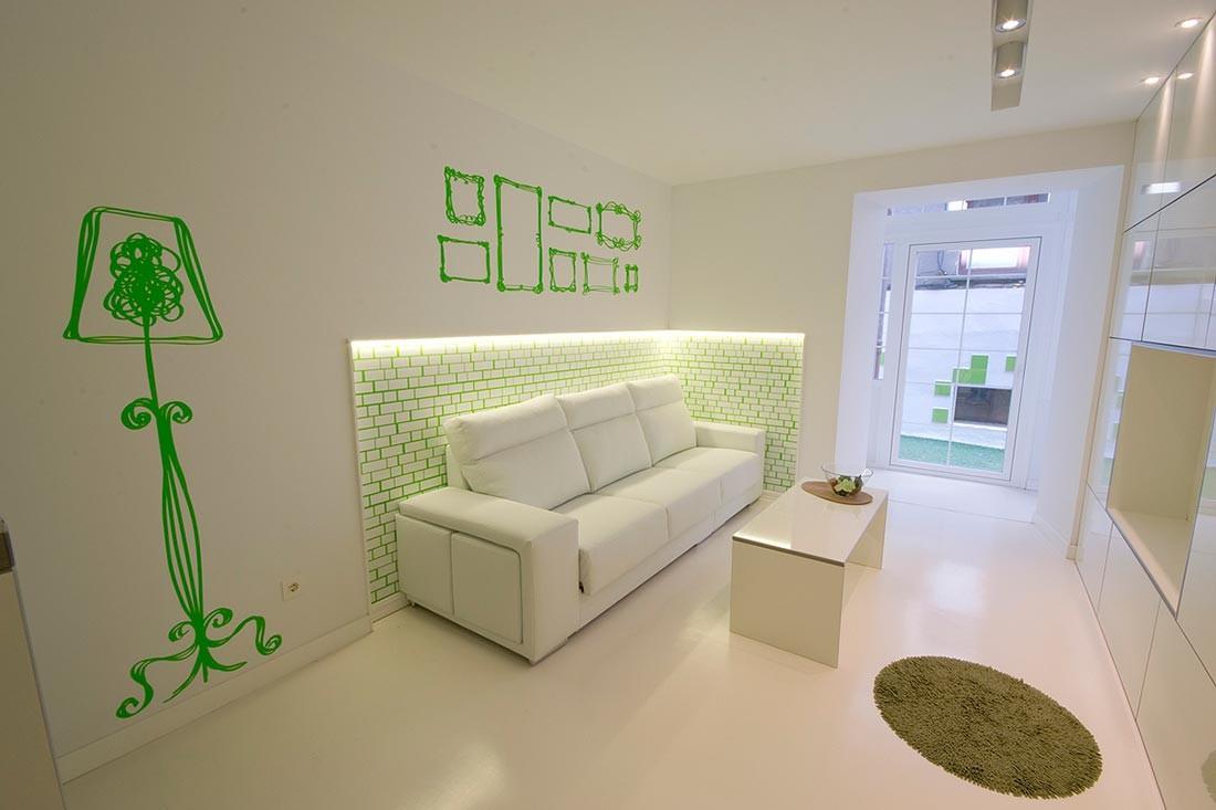 Diseño interior en un apartamento de Burgos