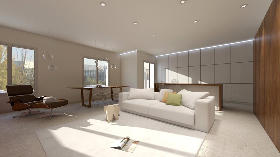 Diseño de interiores de oficinas y apartamentos