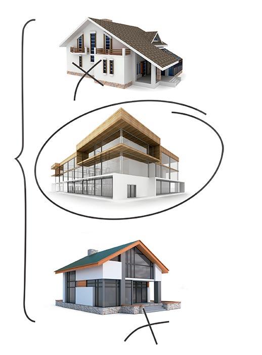 Casas y obras nuevas en construcción